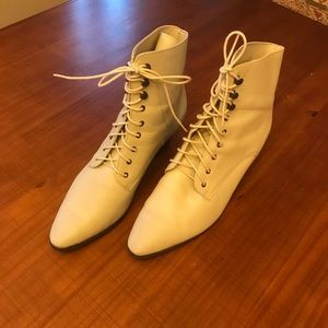 VINTAGE Lace Up Booties